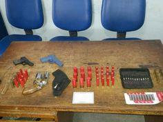DE OLHO 24HORAS: PM apreende munições após policial ser ameaçado pe...