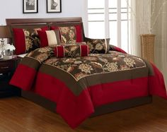 7 Piece Queen Rylee Floral Embroidered Comforter Set KingLinen http://www.amazon.com/dp/B00K0WOMAW/ref=cm_sw_r_pi_dp_chCeub0GFXFYS