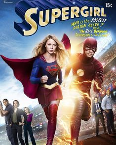 """LOOK! It's a crossover comic book cover for the #supergirl and #flash crossover @grantgust @supergirlofficial excited for you guys to see the ep"""