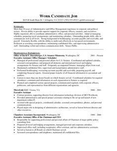 executive administrative assistant resume sample 1 sample resume template - Executive Assistant Resume Templates
