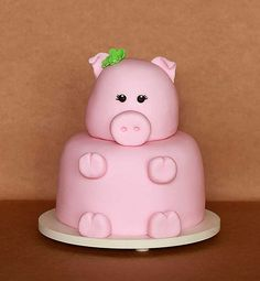 My next birthday cake? This Little Piggy, Little Pigs, Piggy Cake, Pig Birthday Cakes, Mini Pigs, Cute Piggies, Baby Pigs, Pig Party, Cute Cakes