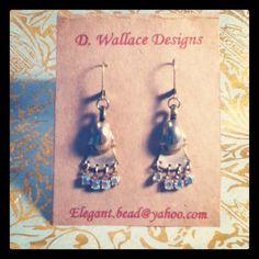 dwallacedesigns • Repurposed vintage earrings.