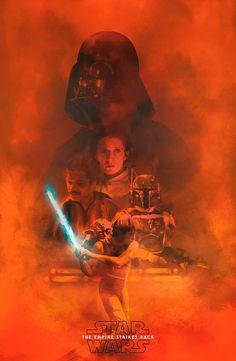 Star Wars Poster, Star Wars Art, American Flag Stars, Best T Shirt Designs, Beach Cover Ups, The Empire Strikes Back, Darth Vader, Artist, Movie Posters