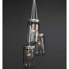 Norgesglasset lampe med LED-pære - Hyttefeber.no Mason Jar Lamp, Barware, Table Lamp, Ceiling Lights, Led, Lighting, Glass, Interior, Design