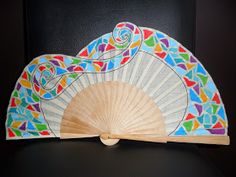 Hand Fan, Diy And Crafts, Home Appliances, Drawings, Fans, Hand Fans, Ideas, Painted Fan, Hearts Of Palms