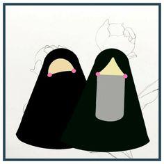 Islamic Cartoon, Niqab, Caricature, Muslim, Avatar, Marriage, Doll, Kids, Pictures