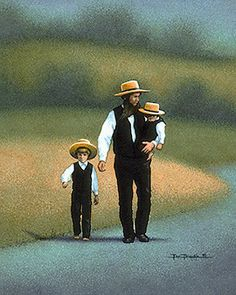 Amish - Father, by Eric Dowdle Amish Collection Dowdle Folk Art
