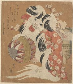 Totoya Hokkei (Japanese, 1780–1850). Surimono Calendar for the Dog Year, 1814. Edo period (1615–1868). 1814, Japan. The Metropolitan Museum of Art, New York. Gift of Estate of Samuel Isham, 1914 (JP1032) #dogs