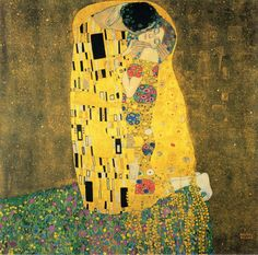 "The Kiss by Gustav Klimt  Painted between 1907–1908 Klimt's 'Golden Phase'  ""I have never painted a self-portrait. I am less interested in myself as a subject for a painting than I am in other people, above all women...There is nothing special about me. I am a painter who paints day after day from morning to night...Who ever wants to know something about me... ought to look carefully at my pictures.""["
