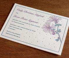 floral letterpress w