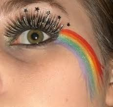 Rainbows and stars are a must for the unicorn look