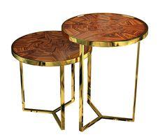 Tarsia Side Table Set - Malabar