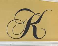 Initial Wall Decal Single Letter Monogram Decal by vgwalldecals