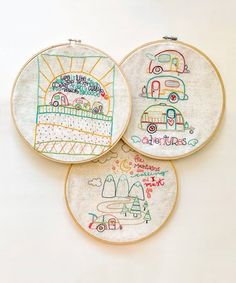 Let your fingers fly with intricate embroidery art in this cool crafting kit that adds a homespun aesthetic to your hearth and home. Hand Embroidery Patterns Free, Modern Embroidery, Embroidery Art, Cross Stitch Embroidery, Embroidery Designs, Embroidery Hoops, Sewing Art, Sewing Ideas, Hearth And Home