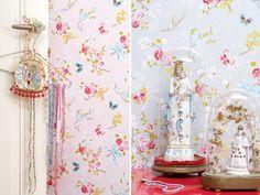 l 39 univers fleuri pip en papier peint studios studio pip. Black Bedroom Furniture Sets. Home Design Ideas
