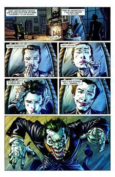 Alternate batman universe where Alfred is the joker