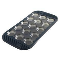 Moule à mini tartelettes 15 empreintes en silicone 35.3x17.5 cm Gris