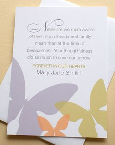 33 Best Funeral Thank You Cards Thank You Notes Funeral Thank