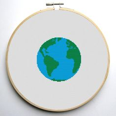 (10) Name: 'Embroidery : Earth Cross Stitch Pattern