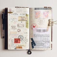 Week 17. #midoritravelersnotebook #travelersnote #travelersnotebook #scrapbooking #planner #organizer #agenda #journal #journaling #washi #washitape #maskingtape #mttape #stationery #文具 #文房具 #手帳 #紙膠帶 #日記