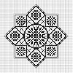 Octogonal 09 | Free chart for cross-stitch, filet crochet | Chart for pattern - Gráfico