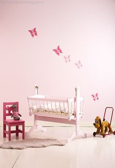 lovely little girl room Jotun Paint, Jotun Lady, Hanging Canvas, Little Girl Rooms, Modern Kitchen Design, Next At Home, Kidsroom, New Room, Girls Bedroom