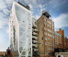 New York's New Reversed Steel And Glass Condominium Silhouette #architecture