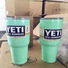 Yeti Rambler Sea Foam Powder Coated 30oz Cup. FREE SHIPPING