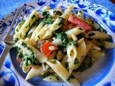 Greek penne pasta