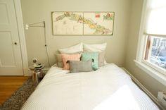 La sencillez de un dormitorio en tonos pastel | Decorar tu casa es facilisimo.com