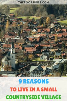 Find out 9 reasons why it is better to live in a small village than in big cities. Villages are cleaner, nicer and may be a better place to raise childrens. Ways To Save Money, How To Make Money, Countryside Village, Reasons To Live, Get Out Of Debt, Managing Your Money, Early Retirement, Frugal Tips, Money Management