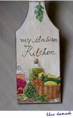 decoupage -----  cutting board------------- deska do krojenia -------  my+italian+kitchen+clsup.jpg (984×1600)