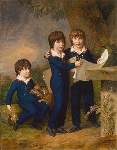 The Children of Martin Anton Heckscher: Johann Gustav Wilhelm Moritz (1797–1865), Carl Martin Adolph (1796–1850), and Leopold (born 1792) Johann Heinrich Wilhelm Tischbein  (German, Haina 1751–1829 Eutin) Date: 1805