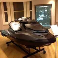 """So sick! Custom matte black jet ski. This is why I love Harrods!"