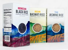 Rice Packaging by Madison Neal, via Behance