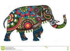 Image result for Elephant Trunk Up Design Indian Elephant Art, Elephant Icon, Elephant Trunk Up, Indian Art, Elephant Stuff, Elephant Images, Elefante Doodle, Mandala Background, Vector Background