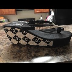 Chanel flip flops Chanel size 7 1/2 flip flops. Worn only a few times. Shoes Sandals