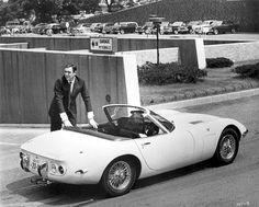 Toyota 2000 GT Spyder and James Bond  Sure they were blatantly copying Jaguar, but it's still beautiful