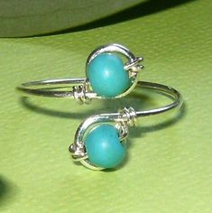 Hey, I found this really awesome Etsy listing at https://www.etsy.com/listing/97070360/silver-turquoise-toe-ring