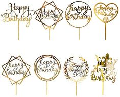 Boutique Patisserie, Happy Birthday Cake Topper, Happy Birthday Parties, Box Cake, Party Supplies, Cake Decorating, Amazon Fr, Cricut, Frame