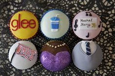 Glee Cupcakes...but i think we should make pins like this... @Bria H-moore Krueger