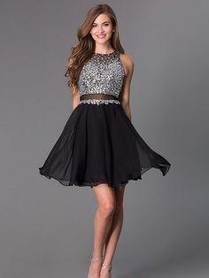 Bg1109 Two Piece Prom Dress,Short Tulle Prom Dresses