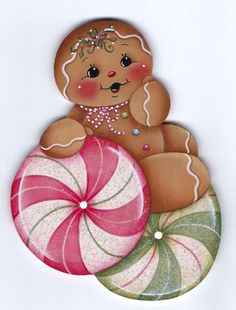 Peppermint Candies Gingerbread Painting por GingerbreadCuties