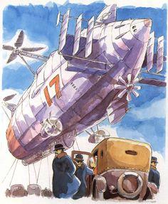 Film: Castle In The Sky ===== Prop Design: Aircrafts ===== Production Company: Studio Ghibli ===== Director: Hayao Miyazaki ===== Producer: Isao Takahata ===== Written by: Hayao Miyazaki ===== Distributed by: Toei Company
