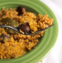 ancient Roman Chestnut-Lentil Stew with Bulgur Pilaf from Apicius for Ides of March dinner