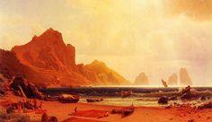 The Marina Piccdola Capri Albert Bierstadt 1859