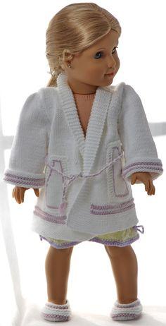 Strikkemønster til dukkeklær -