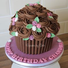 Floral Giant Cupcake   www.facebook.com/cupcakesbybeth1