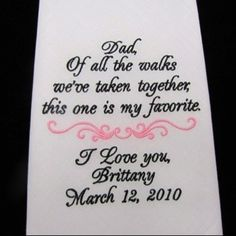 For dad on wedding day... This is the actual aisle runner. This makes me tear up!
