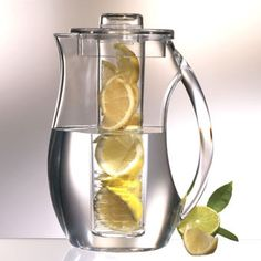 Prodyne Fruit Infusion Water Pitcher Lemon or cucumber water whenever you want!